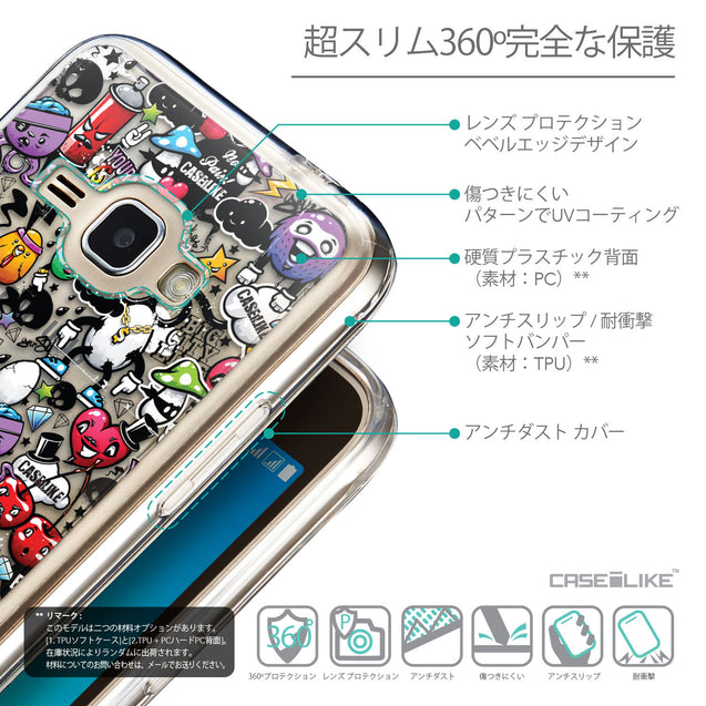 Details in Japanese - CASEiLIKE Samsung Galaxy J1 (2016) back cover Graffiti 2703