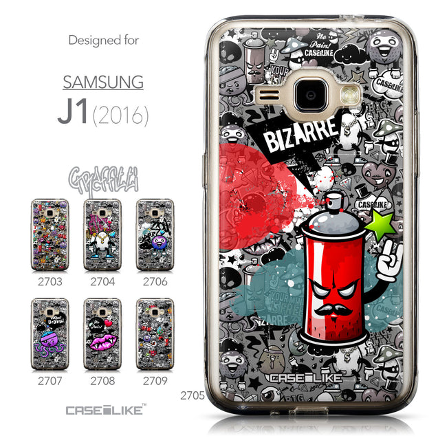 Collection - CASEiLIKE Samsung Galaxy J1 (2016) back cover Graffiti 2705