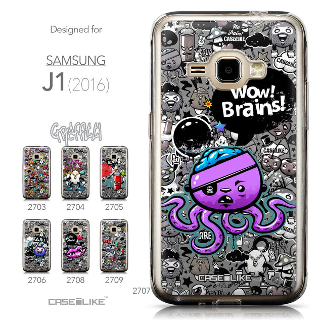 Collection - CASEiLIKE Samsung Galaxy J1 (2016) back cover Graffiti 2707