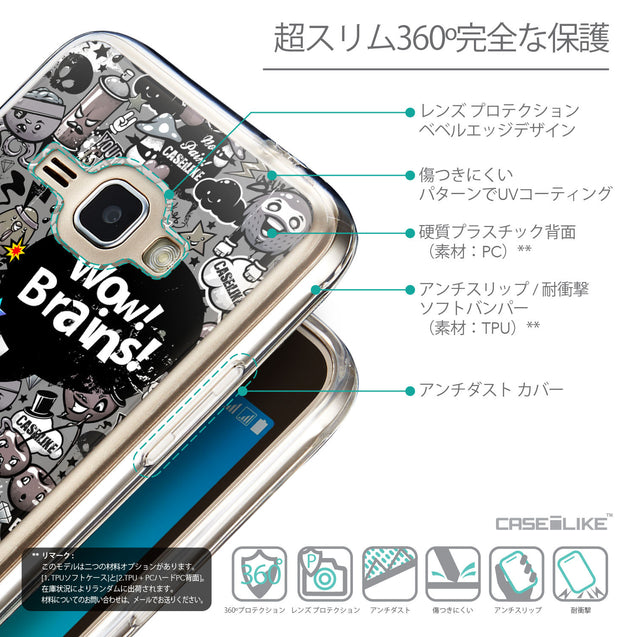 Details in Japanese - CASEiLIKE Samsung Galaxy J1 (2016) back cover Graffiti 2707