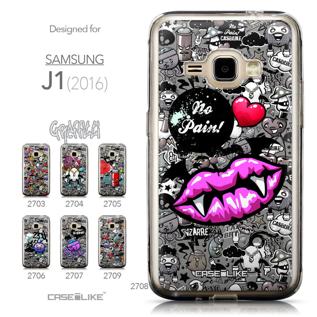 Collection - CASEiLIKE Samsung Galaxy J1 (2016) back cover Graffiti 2708