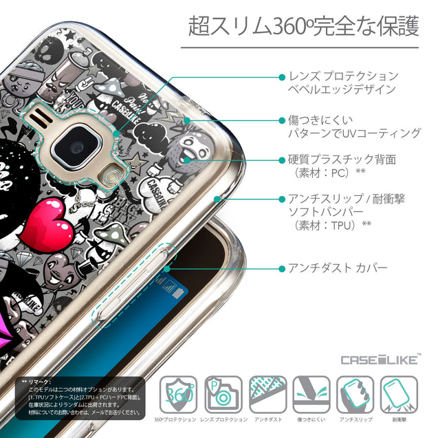 Details in Japanese - CASEiLIKE Samsung Galaxy J1 (2016) back cover Graffiti 2708
