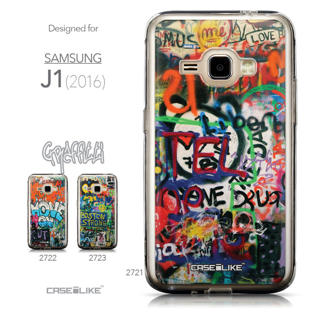 Collection - CASEiLIKE Samsung Galaxy J1 (2016) back cover Graffiti 2721