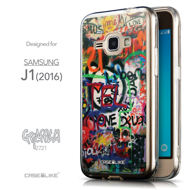 Front & Side View - CASEiLIKE Samsung Galaxy J1 (2016) back cover Graffiti 2721