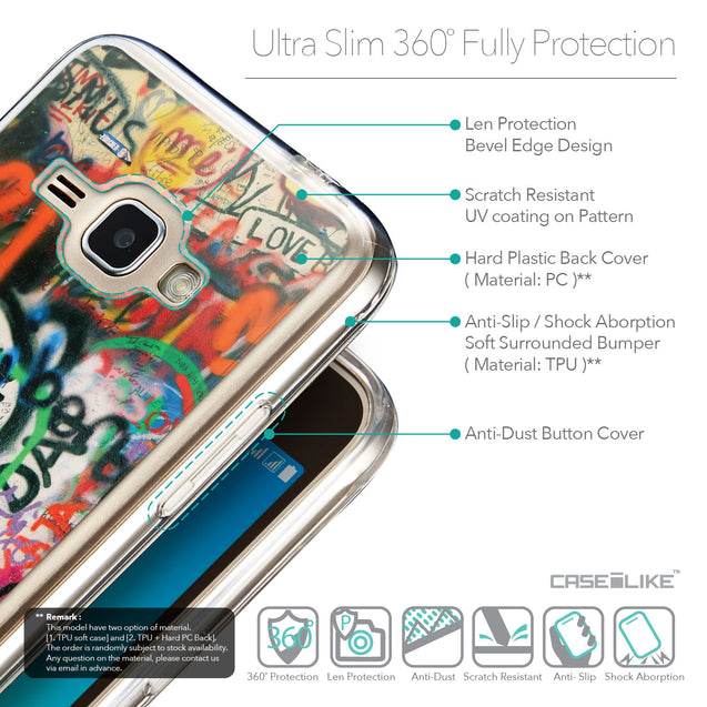 Details in English - CASEiLIKE Samsung Galaxy J1 (2016) back cover Graffiti 2721