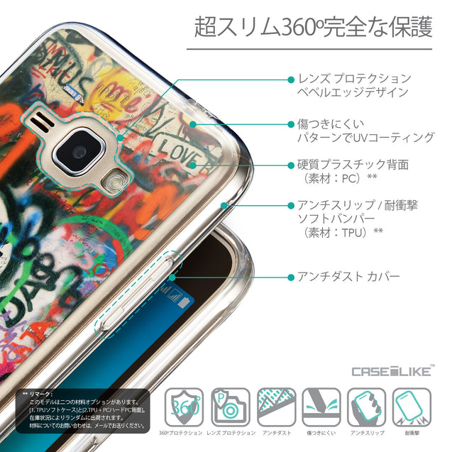 Details in Japanese - CASEiLIKE Samsung Galaxy J1 (2016) back cover Graffiti 2721
