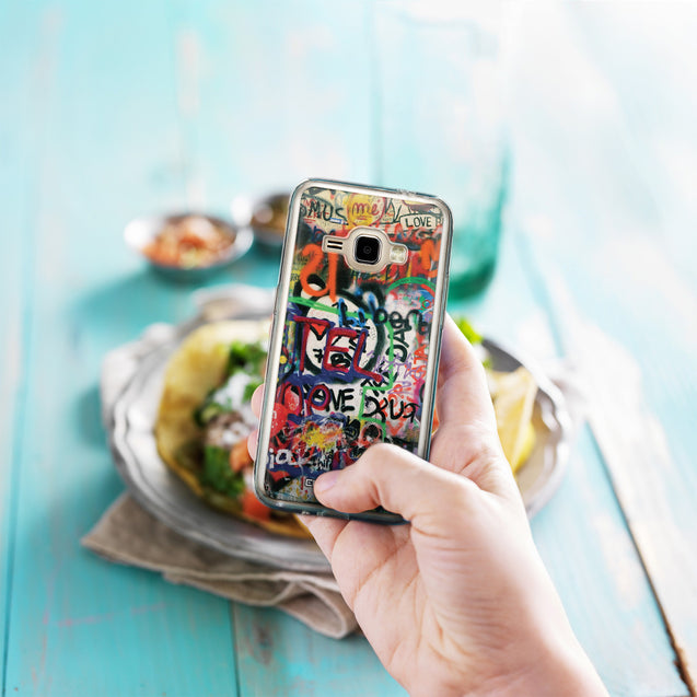 Share - CASEiLIKE Samsung Galaxy J1 (2016) back cover Graffiti 2721
