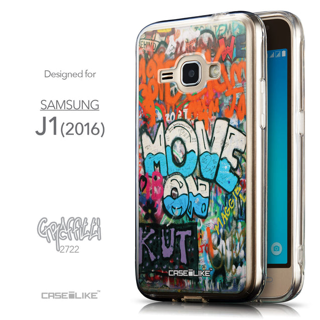 Front & Side View - CASEiLIKE Samsung Galaxy J1 (2016) back cover Graffiti 2722