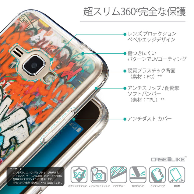 Details in Japanese - CASEiLIKE Samsung Galaxy J1 (2016) back cover Graffiti 2722