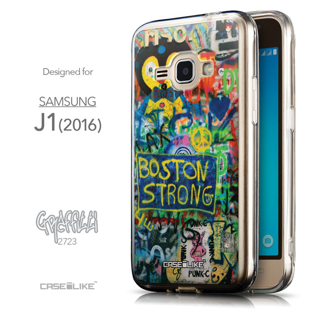 Front & Side View - CASEiLIKE Samsung Galaxy J1 (2016) back cover Graffiti 2723