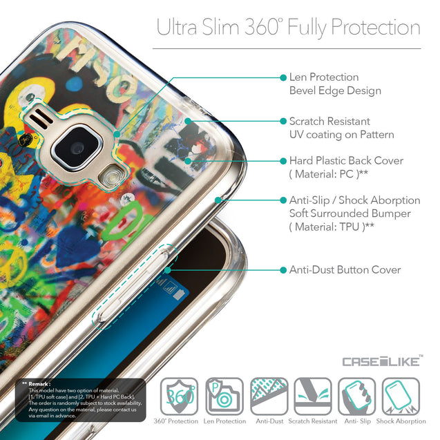 Details in English - CASEiLIKE Samsung Galaxy J1 (2016) back cover Graffiti 2723
