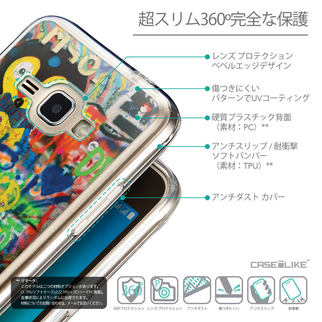 Details in Japanese - CASEiLIKE Samsung Galaxy J1 (2016) back cover Graffiti 2723