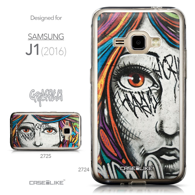 Collection - CASEiLIKE Samsung Galaxy J1 (2016) back cover Graffiti Girl 2724