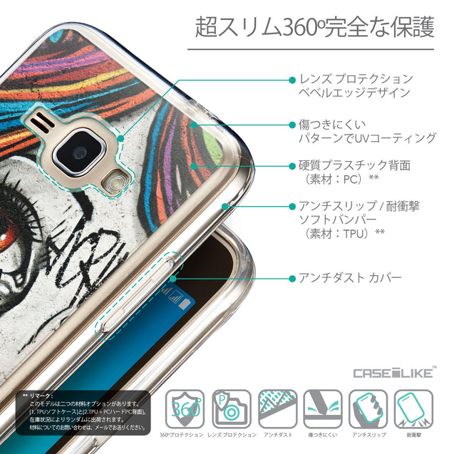Details in Japanese - CASEiLIKE Samsung Galaxy J1 (2016) back cover Graffiti Girl 2724