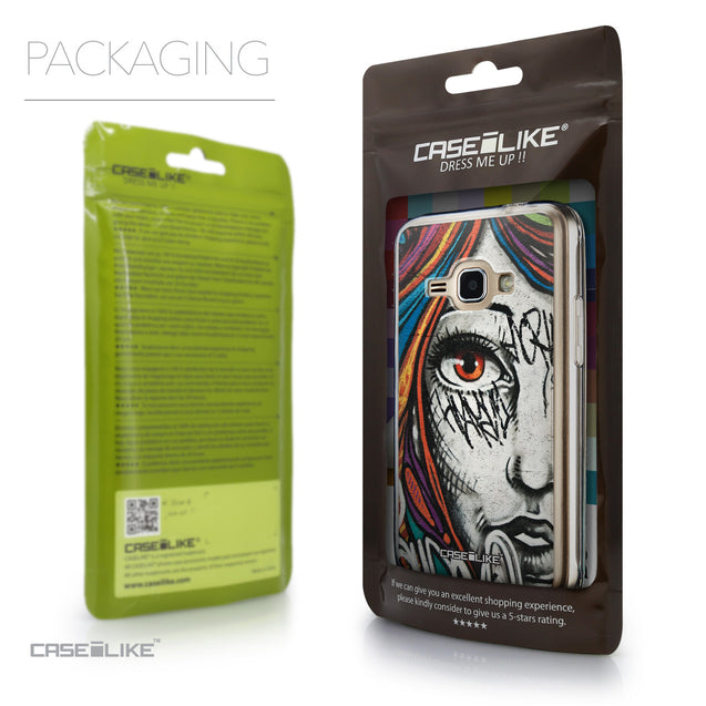 Packaging - CASEiLIKE Samsung Galaxy J1 (2016) back cover Graffiti Girl 2724