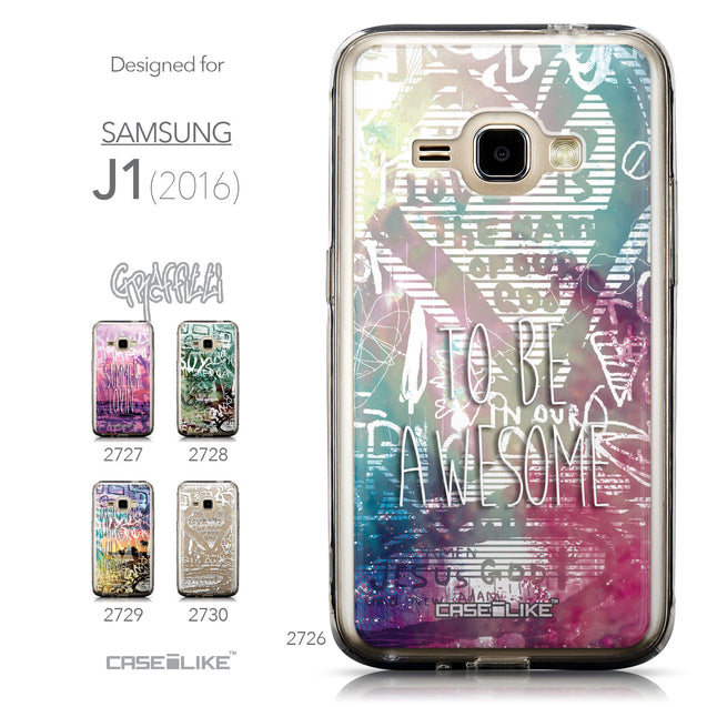 Collection - CASEiLIKE Samsung Galaxy J1 (2016) back cover Graffiti 2726