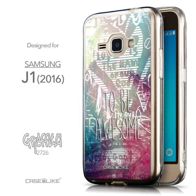 Front & Side View - CASEiLIKE Samsung Galaxy J1 (2016) back cover Graffiti 2726