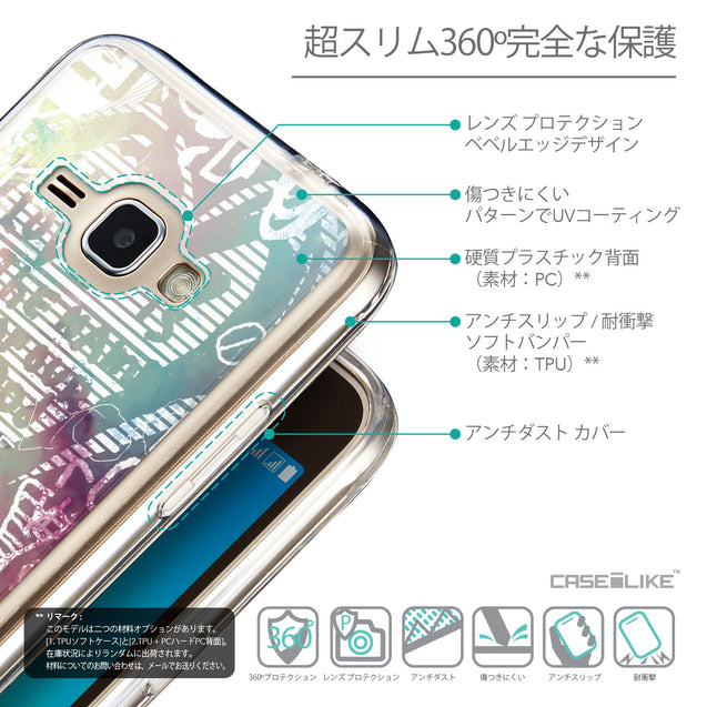 Details in Japanese - CASEiLIKE Samsung Galaxy J1 (2016) back cover Graffiti 2726