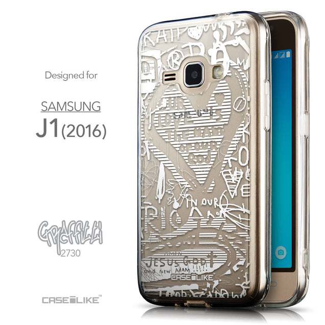Front & Side View - CASEiLIKE Samsung Galaxy J1 (2016) back cover Graffiti 2730