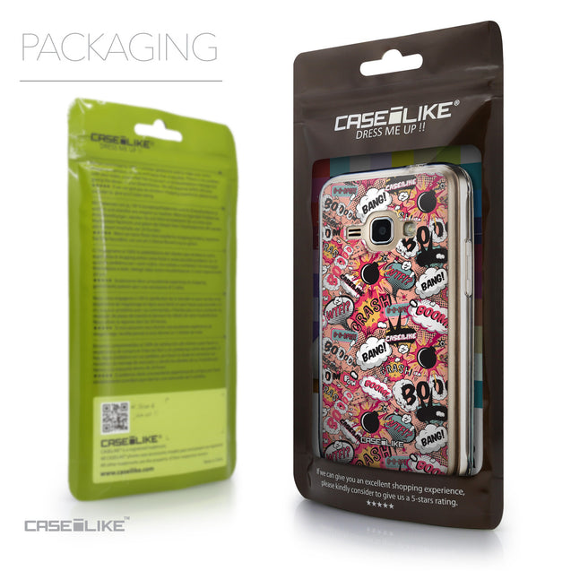 Packaging - CASEiLIKE Samsung Galaxy J1 (2016) back cover Comic Captions Pink 2912