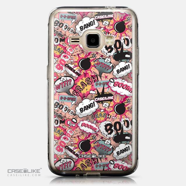CASEiLIKE Samsung Galaxy J1 (2016) back cover Comic Captions Pink 2912