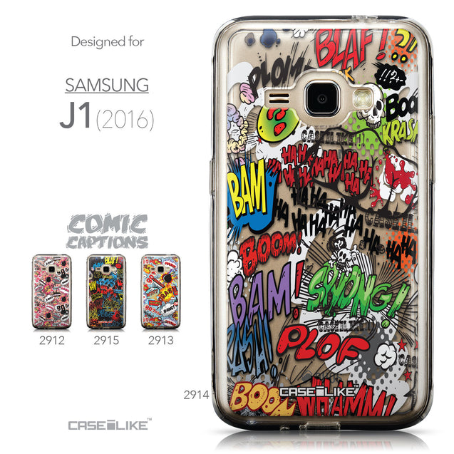 Collection - CASEiLIKE Samsung Galaxy J1 (2016) back cover Comic Captions 2914