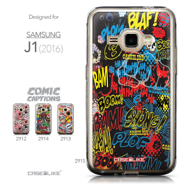 Collection - CASEiLIKE Samsung Galaxy J1 (2016) back cover Comic Captions Black 2915