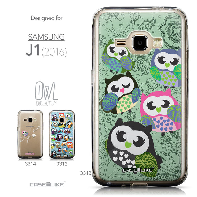 Collection - CASEiLIKE Samsung Galaxy J1 (2016) back cover Owl Graphic Design 3313
