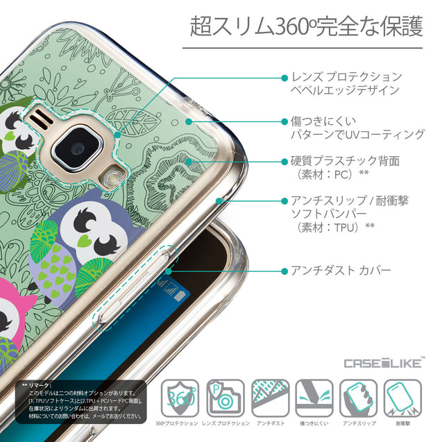 Details in Japanese - CASEiLIKE Samsung Galaxy J1 (2016) back cover Owl Graphic Design 3313