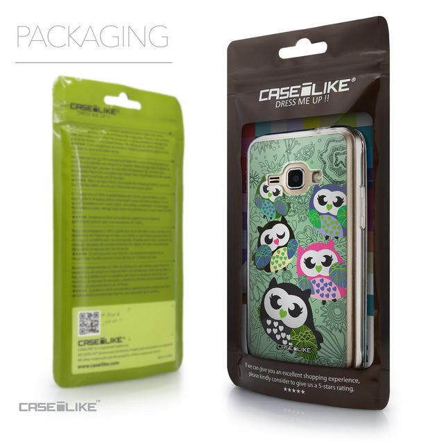 Packaging - CASEiLIKE Samsung Galaxy J1 (2016) back cover Owl Graphic Design 3313