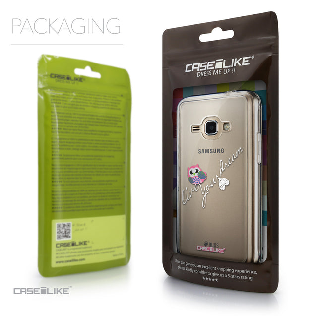 Packaging - CASEiLIKE Samsung Galaxy J1 (2016) back cover Owl Graphic Design 3314