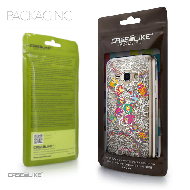 Packaging - CASEiLIKE Samsung Galaxy J1 (2016) back cover Owl Graphic Design 3316