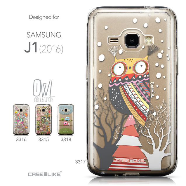 Collection - CASEiLIKE Samsung Galaxy J1 (2016) back cover Owl Graphic Design 3317
