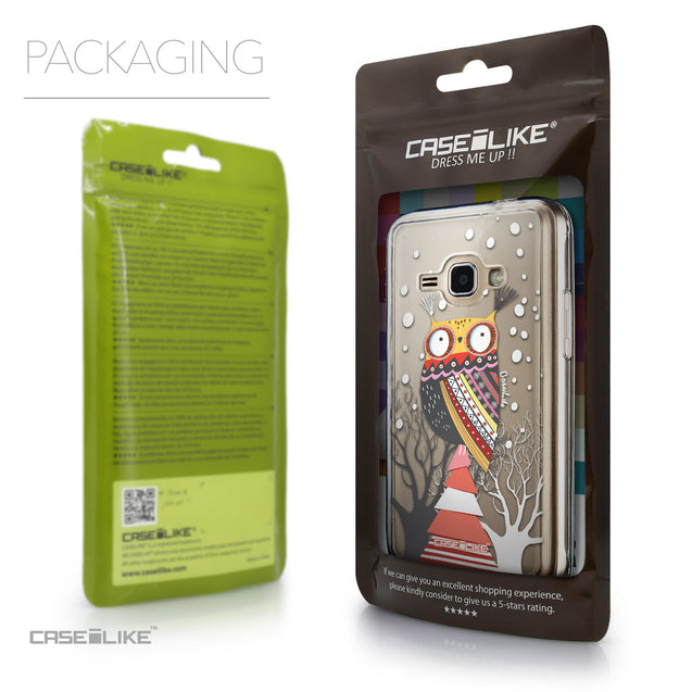 Packaging - CASEiLIKE Samsung Galaxy J1 (2016) back cover Owl Graphic Design 3317