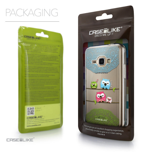 Packaging - CASEiLIKE Samsung Galaxy J1 (2016) back cover Owl Graphic Design 3318