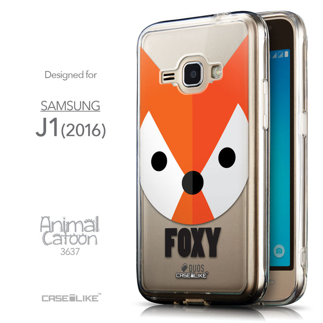 Front & Side View - CASEiLIKE Samsung Galaxy J1 (2016) back cover Animal Cartoon 3637