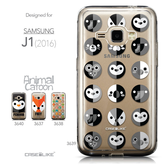 Collection - CASEiLIKE Samsung Galaxy J1 (2016) back cover Animal Cartoon 3639