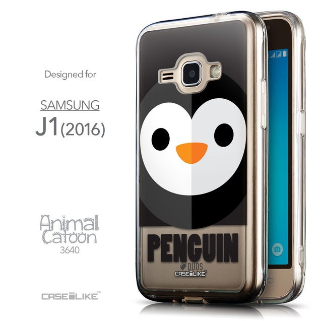 Front & Side View - CASEiLIKE Samsung Galaxy J1 (2016) back cover Animal Cartoon 3640