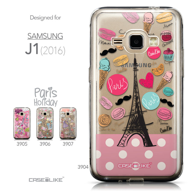 Collection - CASEiLIKE Samsung Galaxy J1 (2016) back cover Paris Holiday 3904