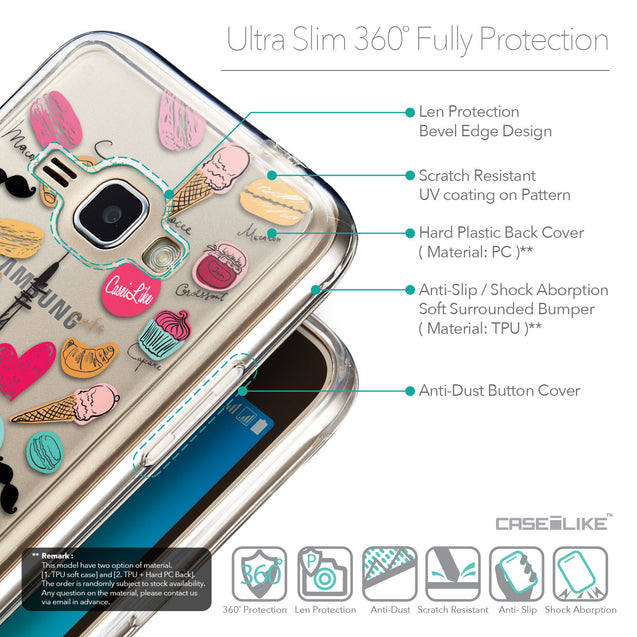 Details in English - CASEiLIKE Samsung Galaxy J1 (2016) back cover Paris Holiday 3904