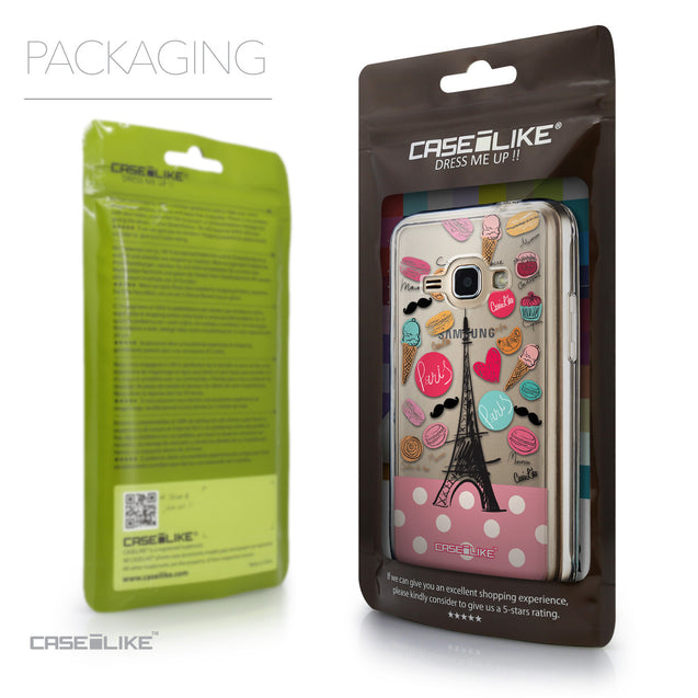 Packaging - CASEiLIKE Samsung Galaxy J1 (2016) back cover Paris Holiday 3904