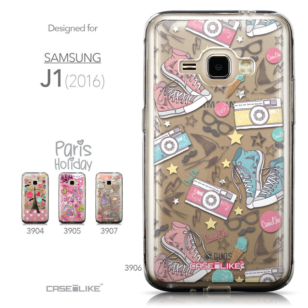 Collection - CASEiLIKE Samsung Galaxy J1 (2016) back cover Paris Holiday 3906
