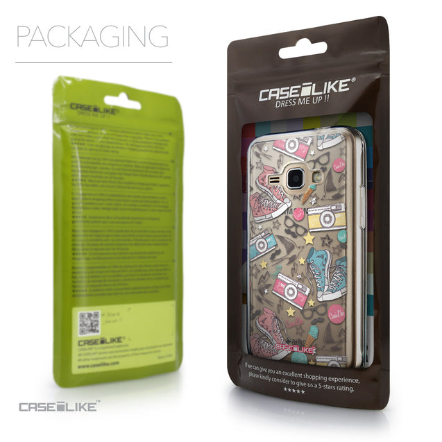 Packaging - CASEiLIKE Samsung Galaxy J1 (2016) back cover Paris Holiday 3906