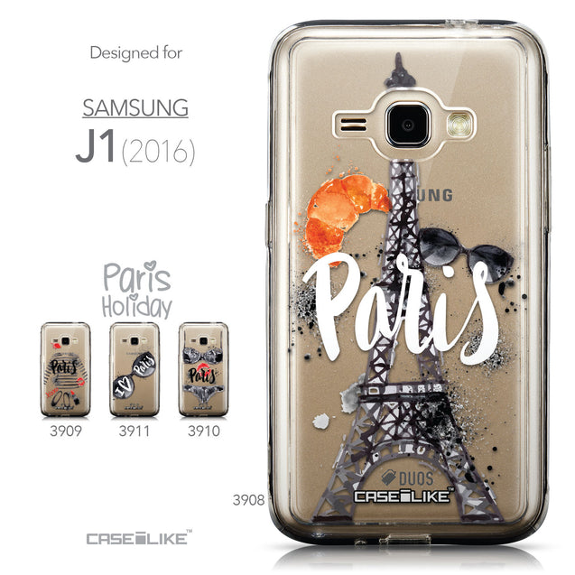 Collection - CASEiLIKE Samsung Galaxy J1 (2016) back cover Paris Holiday 3908