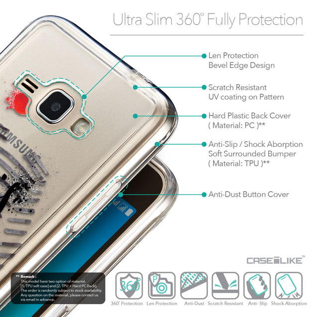 Details in English - CASEiLIKE Samsung Galaxy J1 (2016) back cover Paris Holiday 3909