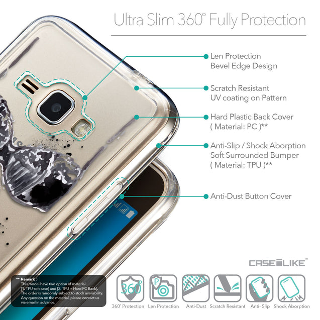 Details in English - CASEiLIKE Samsung Galaxy J1 (2016) back cover Paris Holiday 3910