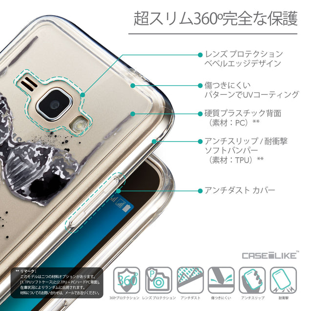 Details in Japanese - CASEiLIKE Samsung Galaxy J1 (2016) back cover Paris Holiday 3910