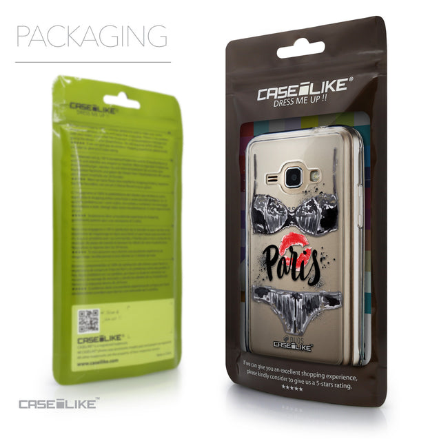 Packaging - CASEiLIKE Samsung Galaxy J1 (2016) back cover Paris Holiday 3910