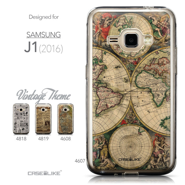 Collection - CASEiLIKE Samsung Galaxy J1 (2016) back cover World Map Vintage 4607