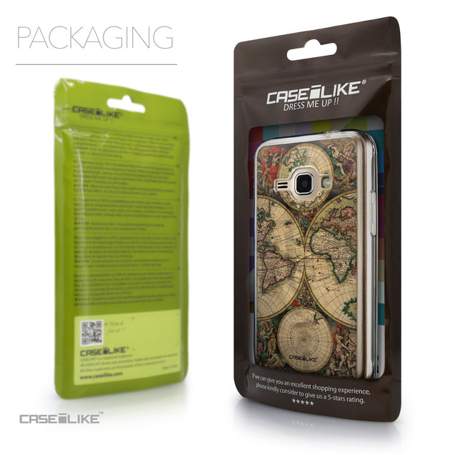 Packaging - CASEiLIKE Samsung Galaxy J1 (2016) back cover World Map Vintage 4607